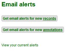 Screen capture ALA alert e-mails
